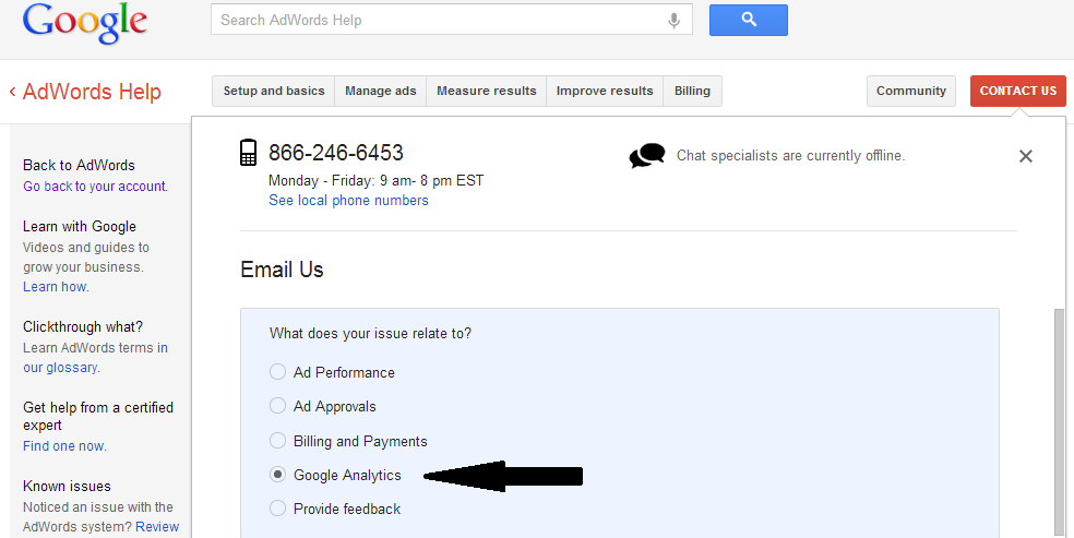 How do I access my google analytics?