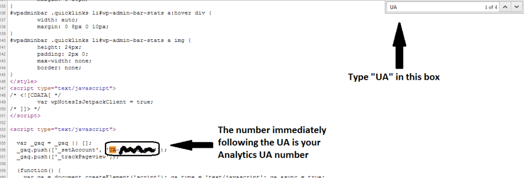 How to find out your Google analytics UA number